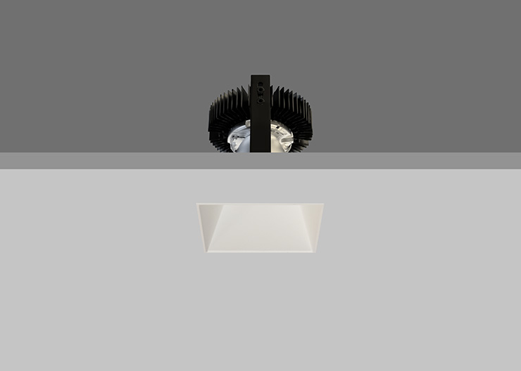 Trimless Ambiance X80 Square Fixed White Reflector